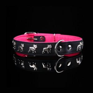 Dogaholic French Bulldog Collar 30mm Pink