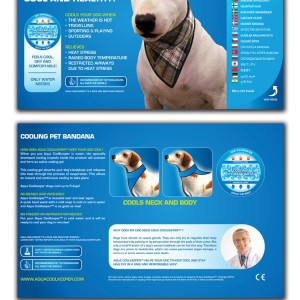 Aqua Coolkeeper® Cooling Dog Bandana