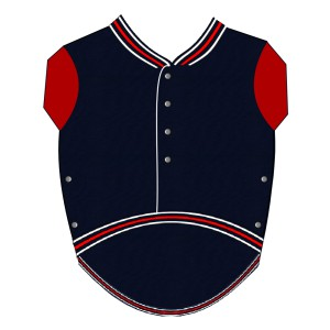Baseball Sweat for Pugs - Navy