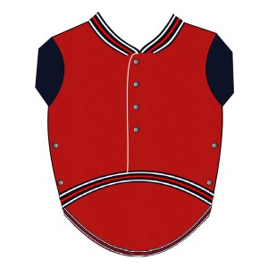 Baseball Sweat for Pugs - Red