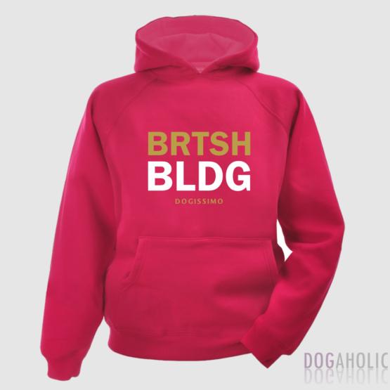 Dogissimo BRTSH BLDG Pink Hoodie Human