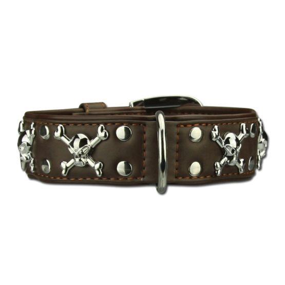 Dogaholic Brown Skull Collar