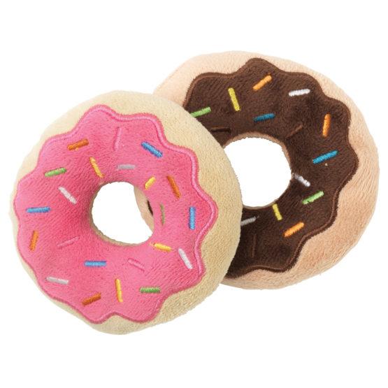 Dogaholic Fuzzyard Donuts Dog Toy (1)