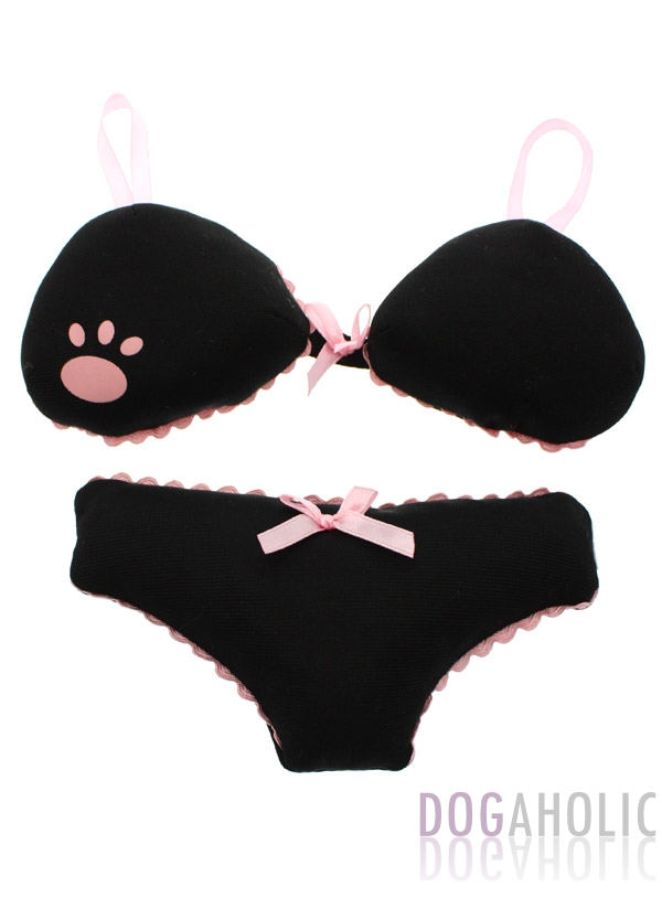 Black Lingerie Soft & Squeaky Dog Toy