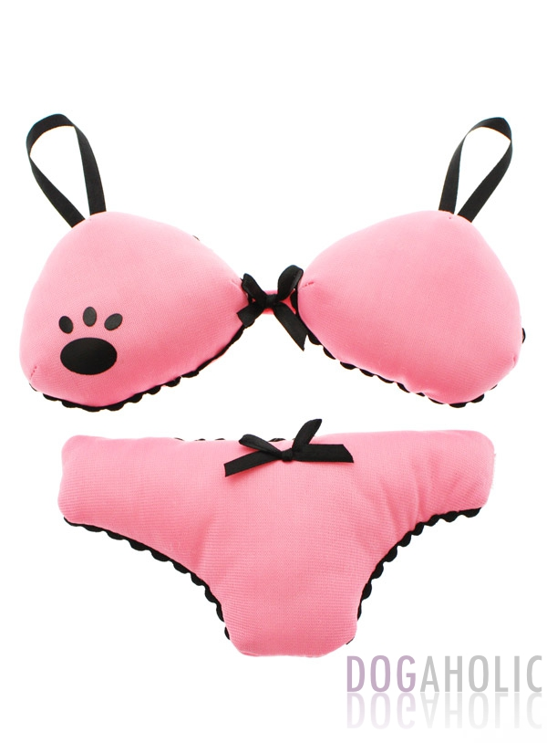 Pink Lingerie Soft & Squeaky Dog Toy