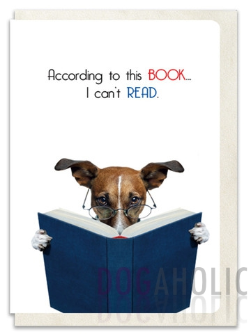 Book Reading Greetings Card