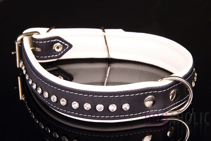 High Quality Leather Collar with Diamantes