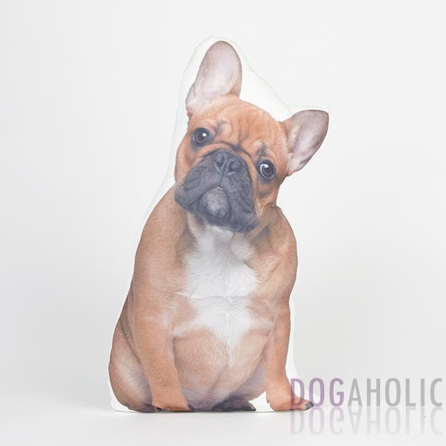 French Bulldog Cushion - Fawn