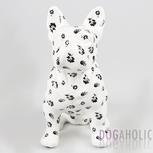 French Bulldog Money Box - White Floral