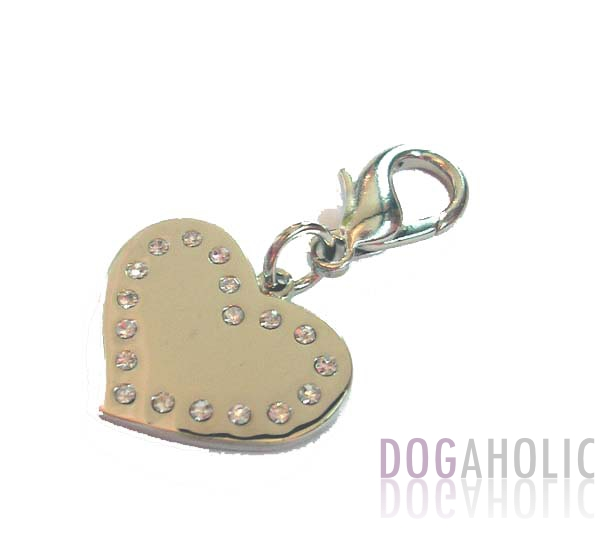 Swarovski Crystal Heart ID Charm