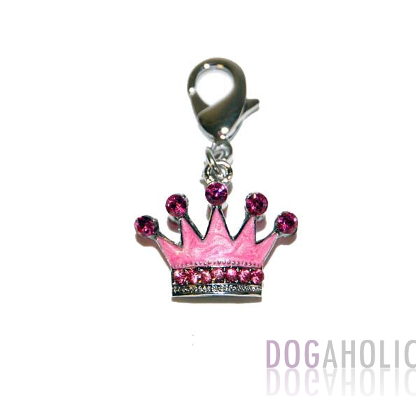 Pink Crown D Ring Charm