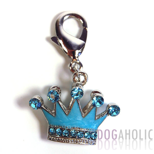 Blue Crown D Ring Charm