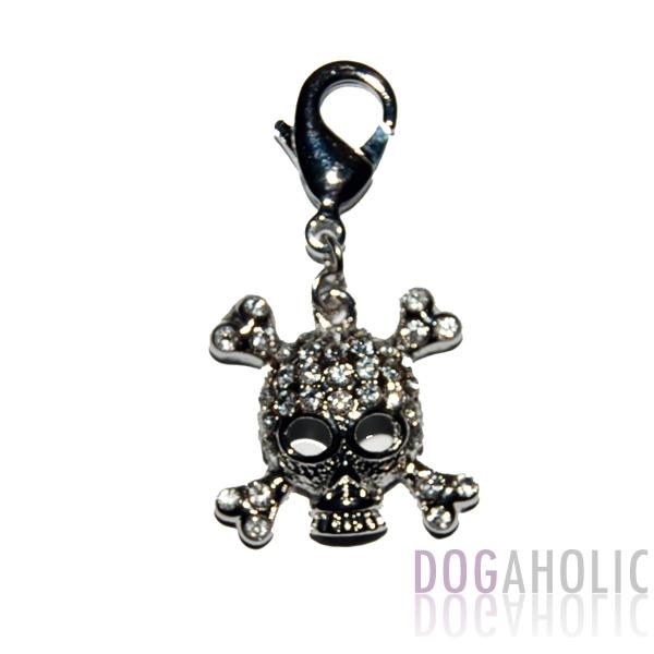 Sparkling Skull Collar D Ring Charm