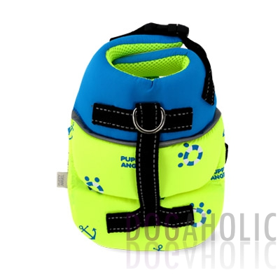 Puppy Angel Anchor Life Vest in Neon Lime