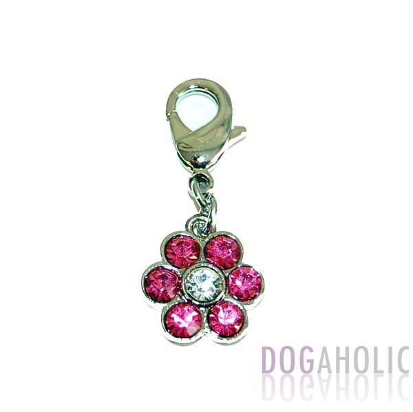 Pink Flower Collar Charm