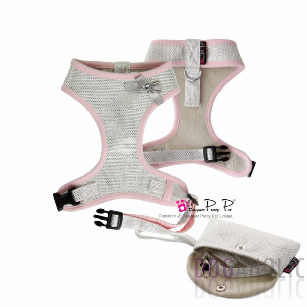 Pretty Pet Bling Bling Harness Three-Piece Set in Silver
