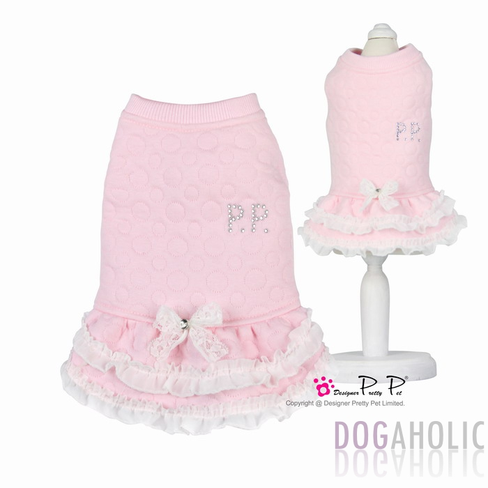 Pretty Pet Baby Dress in Pink Bubbles