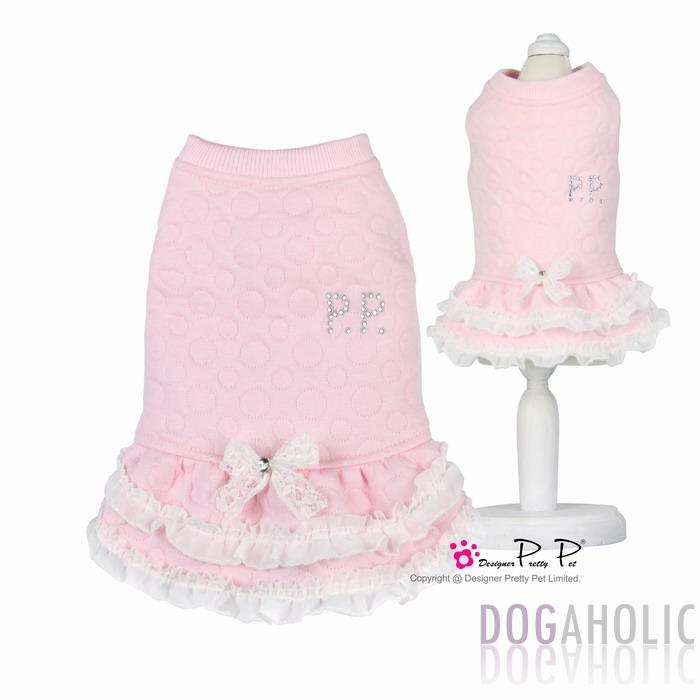 Pretty Pet Baby Dress in Pink Bubbles