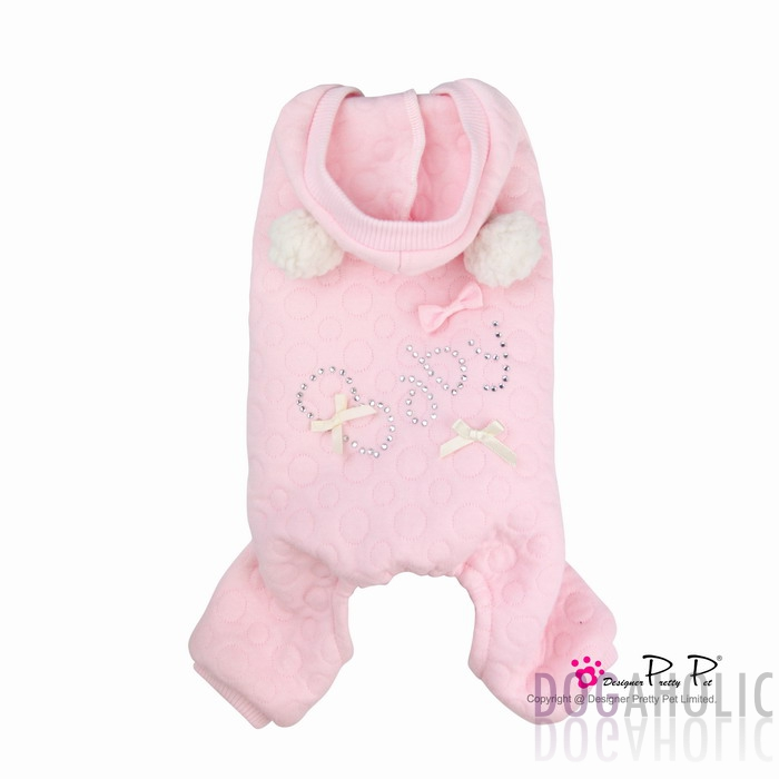 Pretty Pet Baby Jumpsuit in Pink Bubbles
