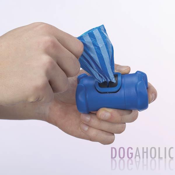 Bone Shaped Poop Bag Holder in Blue