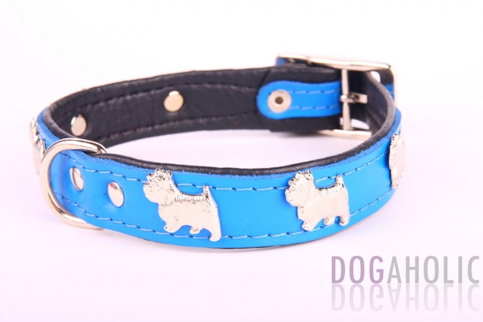 Terrier Leather Dog Collar
