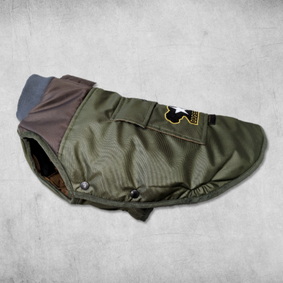 Military Bomber Jacket for Bulldogs