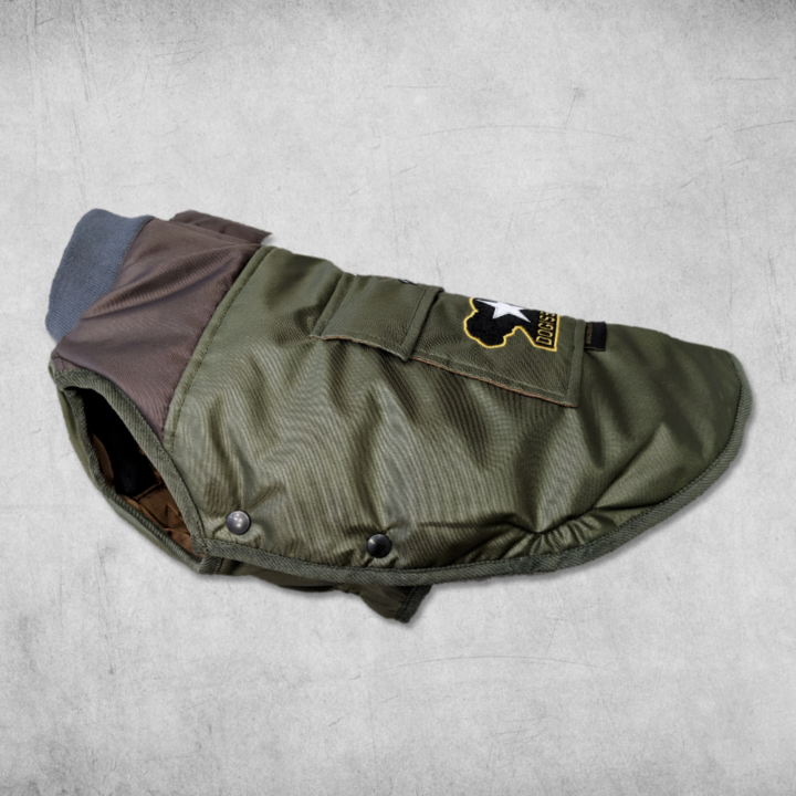 Military Bomber Jacket for Bulldogs