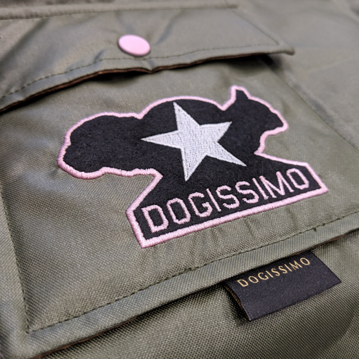 Pink Trim Military Bomber Jacket for Bulldogs