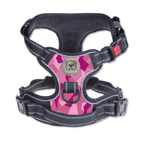 Boston Anti-Pull Dog Harness 2.0 - Pink