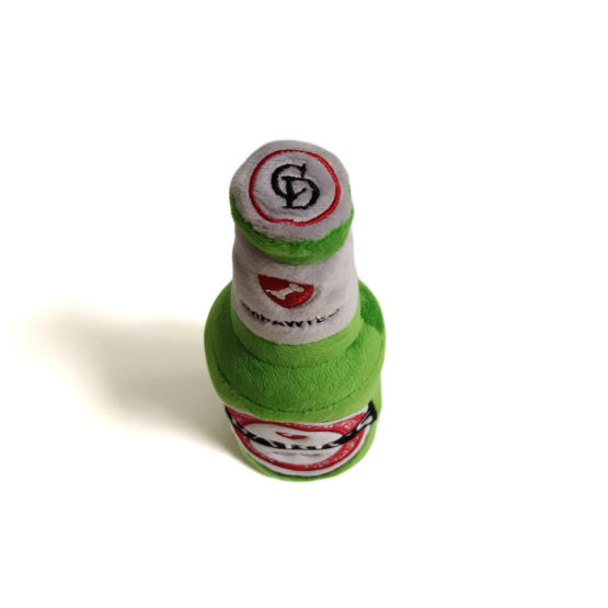 Bark's Beer Bottle Plush Dog Toy