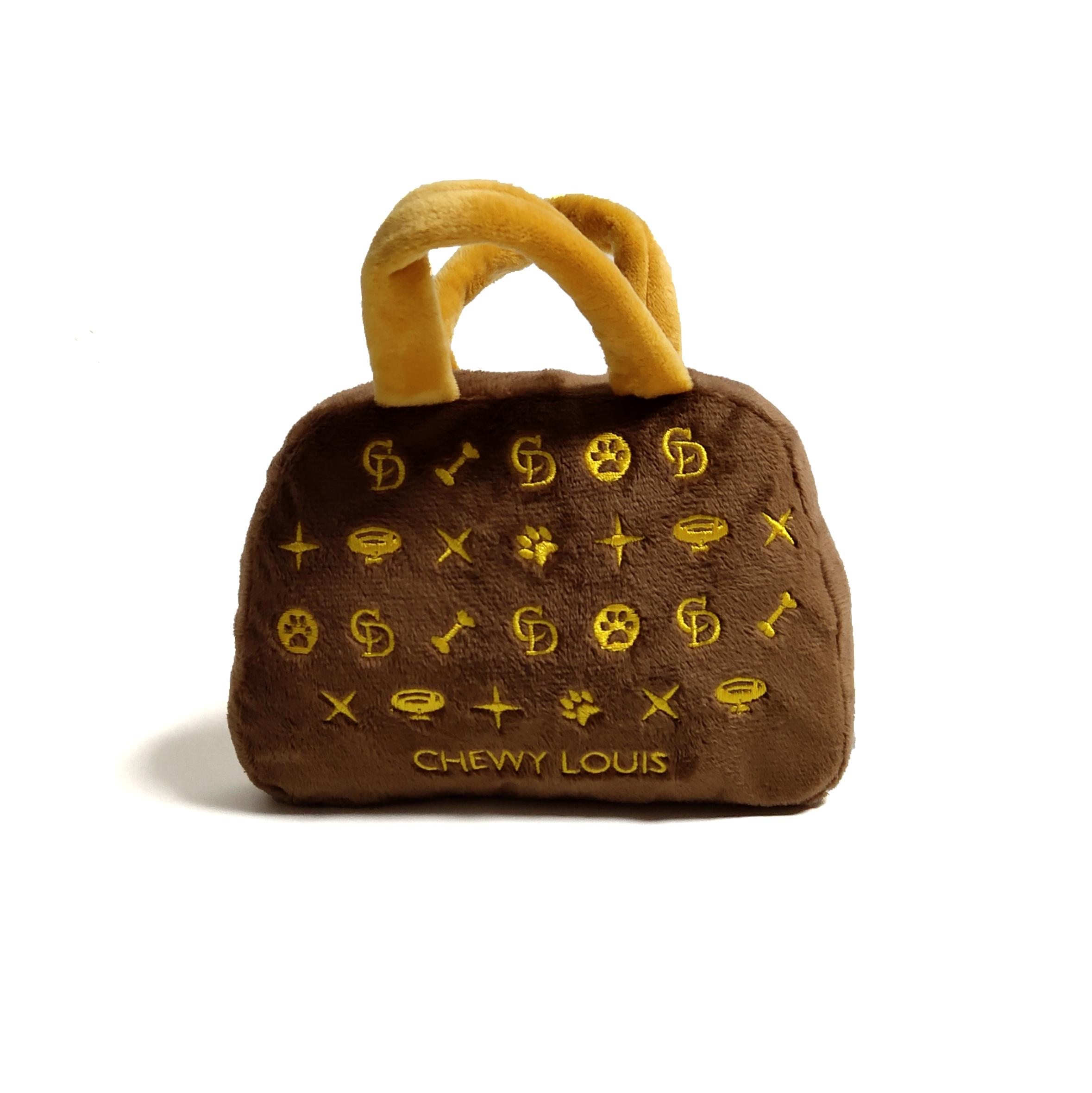 CatwalkDog Chewy Louis Handbag Parody Plush Dog Toy