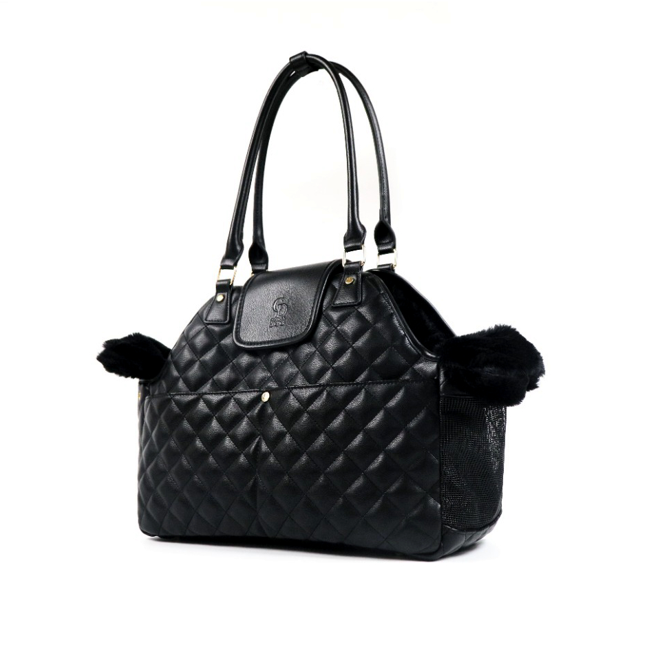 CatwalkDog Paris Quilted Pet Carrier in Black