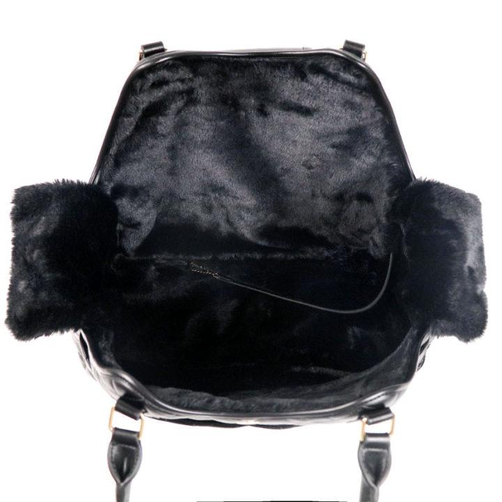 CatwalkDog Paris Quilted Pet Carrier in Black