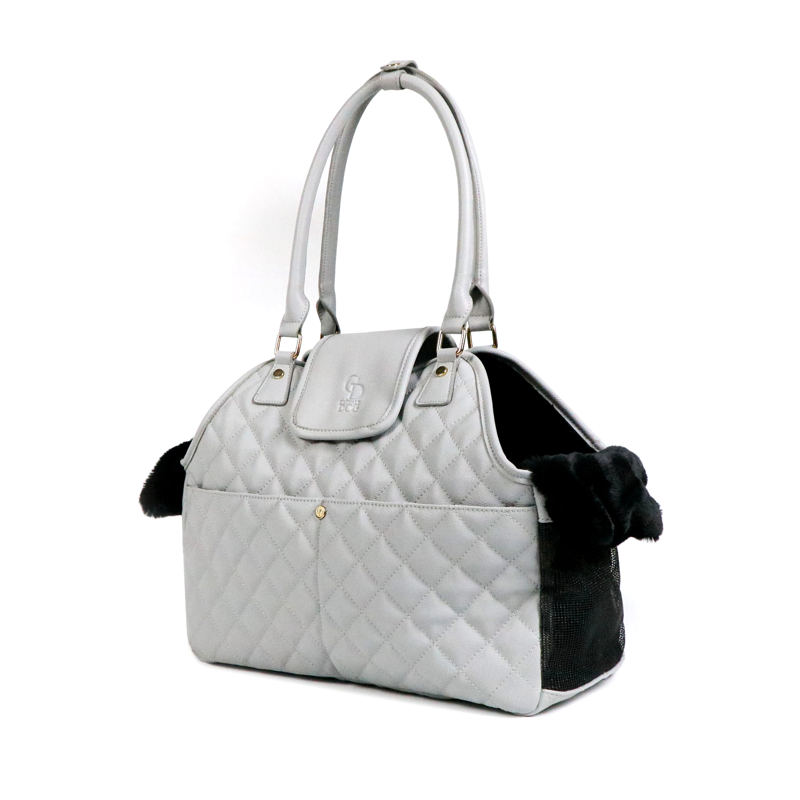 CatwalkDog Paris Quilted Pet Carrier in Grey