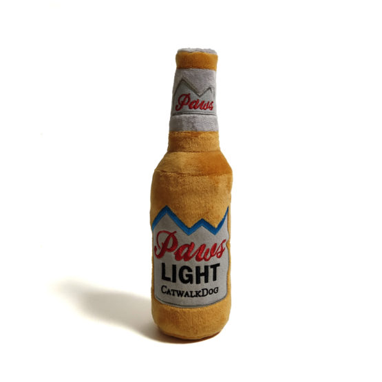 Paws Light Beer Bottle Plush Dog Toy