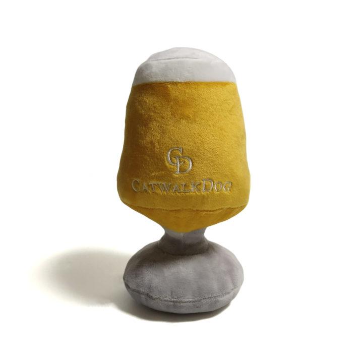 San Mongrel Beer Glass Plush Dog Toy